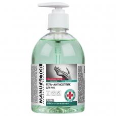 Антисептик кожный дезинфицирующий спиртосодержащий (66%) с дозатором 500 мл MANUFACTOR, гель, N30804