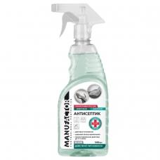 Антисептик кожный дезинфицирующий для рук и поверхностей спиртосодержащий (66%) с распылителем 500 мл MANUFACTOR, готовый раствор, N30906