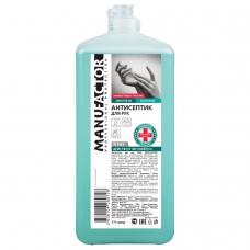 Антисептик кожный дезинфицирующий спиртосодержащий (66%) 1 л MANUFACTOR, флип-топ, готовый раствор, N30907
