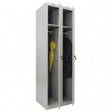 Шкаф металлический для одежды BRABIX LK 21-60, УСИЛЕННЫЙ, 2 секции, 1830х600х500 мм, 32 кг, 291126, S230BR402502
