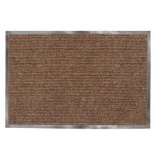 Коврик входной ворсовый влаго-грязезащитный ЛАЙМА, 120х150 см, ребристый, толщина 7 мм, коричневый, 602876