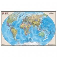 Карта настенная 'Мир. Политическая карта', М-1:25 млн., размер 122х79 см, ламинированная, тубус, 3