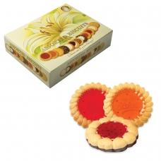 Печенье БИСКОТТИ 'Santa Bakery', ассорти 12 видов, сдобное, 750 г, картонная коробка