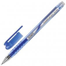 Ручка стираемая гелевая STAFF, СИНЯЯ, корпус синий, хромированные детали, узел 0,5 мм, линия письма 0,38 мм, 142499