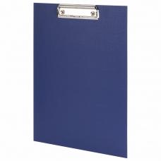 Доска-планшет STAFF с прижимом А4 225х316 мм, картон/бумвинил синяя, 229052