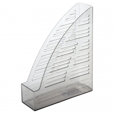 Лоток вертикальный для бумаг BRAUBERG 'Standard', 245х70х295 мм, тонированный серый, 237222