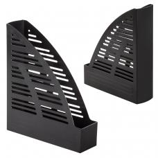 Лоток вертикальный для бумаг BRAUBERG 'Standard', 245х70х295 мм, черный, 237220