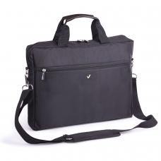 Сумка деловая BRAUBERG 'Tempo', 30х40х4 см, отделение для планшета и ноутбука 15,6', ткань, черная, 240453