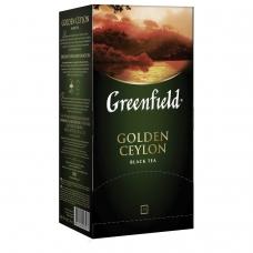 Чай GREENFIELD Гринфилд 'Golden Ceylon', черный, 25 пакетиков в конвертах по 2 г