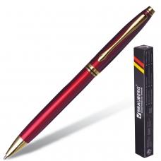 Ручка бизнес-класса шариковая BRAUBERG 'De Luxe Red', корпус бордовый, узел 1 мм, линия письма 0,7 мм, синяя, 141413
