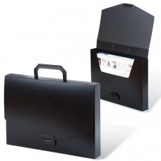 Портфель пластиковый BRAUBERG 'Energy', А4 330х256х32 мм, без отделений, черный, 221202