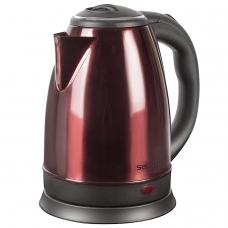 Чайник SONNEN KT-118С, 1,8 л, 1500 Вт, закрытый нагревательный элемент, нержавеющая сталь, кофейный, 452928