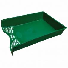 Лоток горизонтальный для бумаг STAFF 'Profit', A4 330х260х60 мм, полипропилен, зеленый, 237273