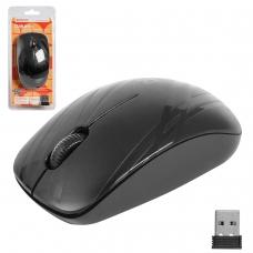Мышь беспроводная DEFENDER Datum MM-035 B, 2 кнопки + 1 колесо-кнопка, лазерная, черная, 52035