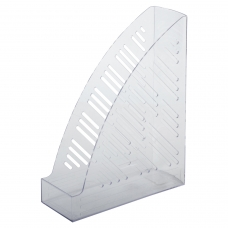 Лоток вертикальный для бумаг BRAUBERG 'Standard+', 250х90х300 мм, прозрачный, 237227