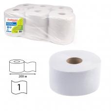 Бумага туалетная ЛЮБАША / ЛАЙМА УНИВЕРСАЛ Система T2 1-слойная 12 рулонов по 200 метров, цвет серый, 129571