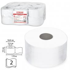 Бумага туалетная LAIMA PREMIUMСистема T2 2-слойная 12 рулонов по 170 метров, цвет белый, 126092