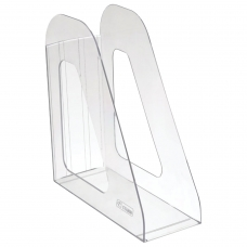 Лоток вертикальный для бумаг СТАММ 'Фаворит' 235х240 мм, ширина 90 мм, прозрачный, ЛТ701