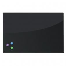 Доска магнитно-маркерная стеклянная 40х60 см, 3 магнита, ЧЕРНАЯ, BRAUBERG, 236745