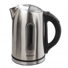Чайник SONNEN KT-1740, 1,7 л, 2200 Вт, закрытый нагревательный элемент, терморегулятор, нержавеющая сталь, 453421