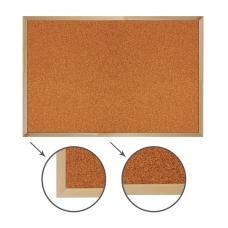 Доска пробковая для объявлений 60х90 см, деревянная рамка, BRAUBERG, 236860