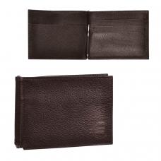 Зажим для купюр BEFLER Грейд, натуральная кожа, тиснение, 120х86 мм, коричневый, Z.9.-9