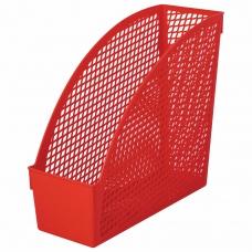 Лоток вертикальный для бумаг STAFF 'Profit', 270х100х250 мм, сетчатый, полипропилен, красный, 237251