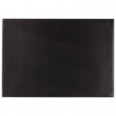 Коврик-подкладка настольный для письма 650х450 мм, с прозрачным карманом, черный, BRAUBERG, 236775