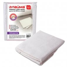 Тряпка для мытья пола 60х75 см, плотность 200 г/м2, 50% вискоза, 40% хлопок, 10% полиэстер, 'Премиум' ЛАЙМА, 600838