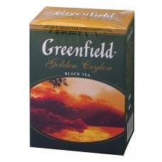 Чай GREENFIELD Гринфилд Golden Ceylon ОРА, черный, листовой, 100 г, 0351