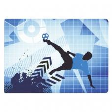 Настольное покрытие для письма и творчества ПИФАГОР, размер А4, пластик, 'Футбольный мяч', 227252