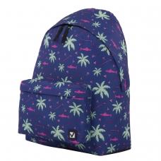 Рюкзак BRAUBERG, универсальный, сити-формат, Пальмы, 20 литров, 41х32х14 см, 228864