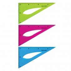 Треугольник 30*18 см гибкий BRAUBERG 'FLEX', пластиковый, ассорти, европодвес, 21хххх