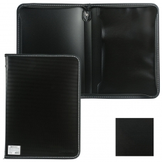 Папка на молнии пластиковая BRAUBERG 'Contract', А4, 335х242 мм, внутренний карман, черная, 225162