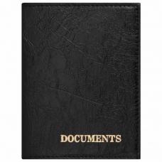 Обложка для автодокументов STAFF, экокожа, 'DOCUMENTS', черная, 237181