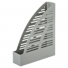 Лоток вертикальный для бумаг BRAUBERG 'Standard', 245х70х295 мм, серый, 237221