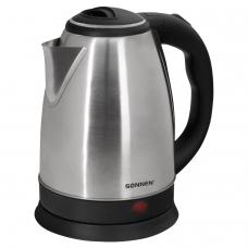 Чайник SONNEN KT-115, 1,5 л, 1500 Вт, закрытый нагревательный элемент, нержавеющая сталь, серебристый, 452925