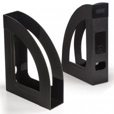 Лоток вертикальный для бумаг СТАММ 'Респект-эконом' 220х290 мм, ширина 70 мм, полипропилен, черный, ОФ111