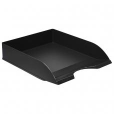 Лоток горизонтальный для бумаг СТАММ 'Дельта', А4 315х250х60 мм, черный, ЛТ651