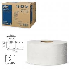 Бумага туалетная 170 м, TORK Система Т2, комплект 12 шт., Advanced, 2-слойная, белая, 120231