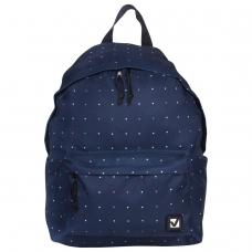Рюкзак BRAUBERG универсальный, сити-формат, темно-синий, 'Полночь', 20 литров, 41х32х14 см, 224754