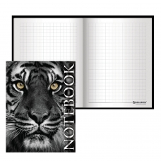 Блокнот МАЛЫЙ ФОРМАТ 110х147 мм А6, 80 л., ламинированная обложка, выборочный лак, клетка, BRAUBERG, 'Тигровый', 123244