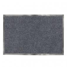 Коврик входной ворсовый влаго-грязезащитный ЛАЙМА, 90х120 см, ребристый, толщина 7 мм, серый, 602872