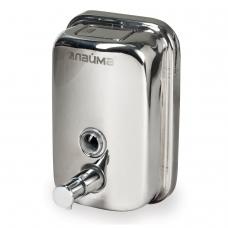 Диспенсер для жидкого мыла ЛАЙМА, 0,5 л, нержавеющая сталь, зеркальный, 601795