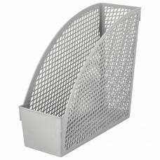 Лоток вертикальный для бумаг STAFF 'Profit', 270х100х250 мм, сетчатый, полипропилен, серый, 237252