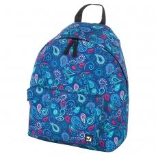 Рюкзак BRAUBERG, универсальный, сити-формат, Восточный узор холодный, 20 литров, 41х32х14 см, 228865