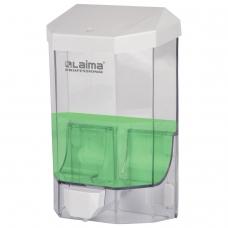 Диспенсер для жидкого мыла ЛАЙМА PROFESSIONAL ORIGINAL, НАЛИВНОЙ, 1 л, прозрачный, пластик, 605773