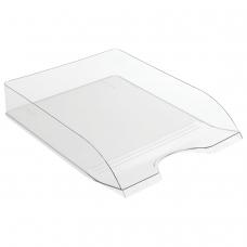 Лоток горизонтальный для бумаг СТАММ 'Дельта', А4 315х250х60 мм, прозрачный, ЛТ652