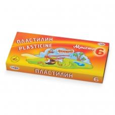 Пластилин классический ГАММА 'Мультики', 6 цветов, 120 г, со стеком, картонная упаковка, 280015,281015