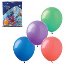 Шары воздушные 14' 36 см, комплект 100 шт., 12 пастельных цветов, в пакете, 1101-0010